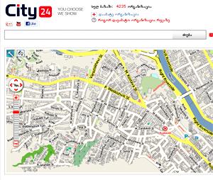 City24.ge - საქართველოს რუკა
