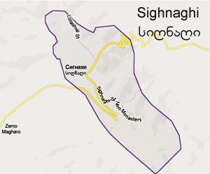 ქალაქი სიღნაღი  ინტერაქტიული ციფრული რუკა